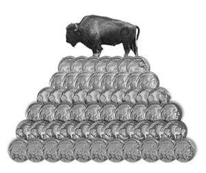 Buffalo Nickel Stack