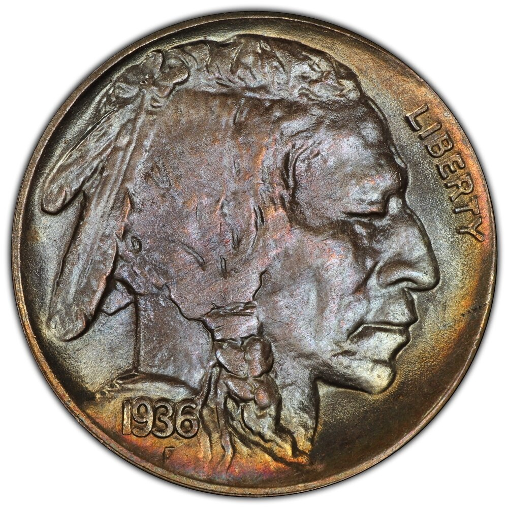 936 D Buffalo Nickels PCGS MS67+ CAC - Heritage