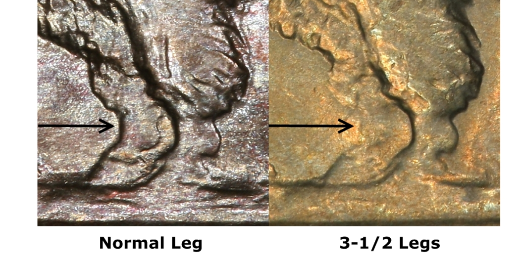 1936-D 3/12 Legs from PCGS
